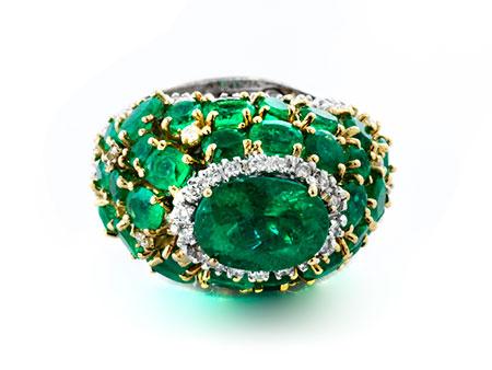 Samaragd-Diamantring
