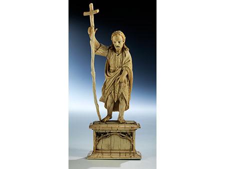 Elfenbeinschnitzigur des Heiligen Johannes Baptist