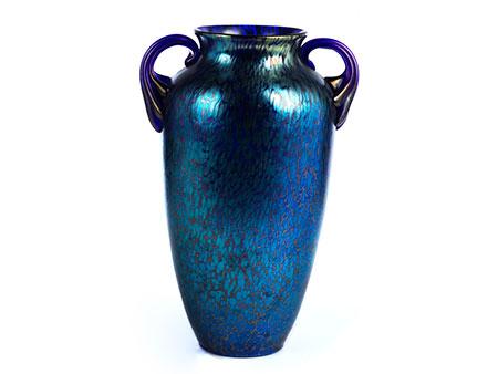 Blaue Glasvase