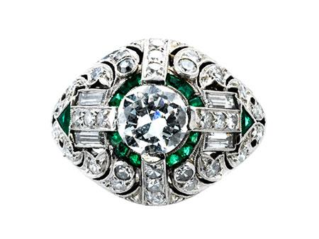 Diamant-Smaragdring