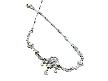Perl-Diamantcollier
