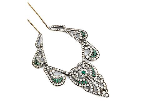 Diamant-Smaragdcollier