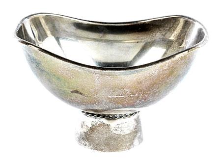Moderne Silberschale