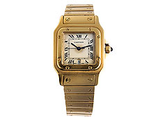 CARTIER Santos in 18 kt. Gold und Goldband