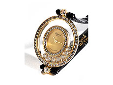 Damenarmbanduhr von CHOPARD Happy Diamonds in Gold