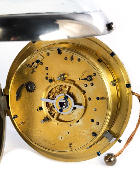Detail images: Breguet-Kutscheruhr mit Repetition und Weckerfunktion in Form einer großen Taschenuhr
