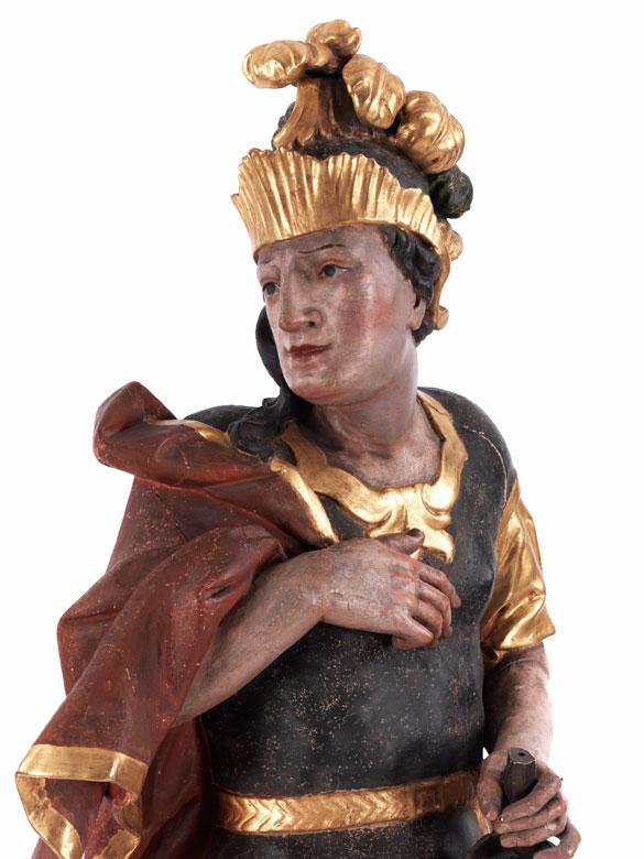 Detail images:  Schnitzbüste des Heiligen Florian
