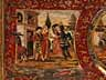 Detail images:  Figürlich gemalte Front einer Hochzeitstruhe