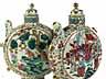 Detail images: Paar chinesische Porzellankannen in Form von Pilgerflaschen