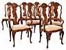 Detailabbildung: Satz von acht Barockstühlen