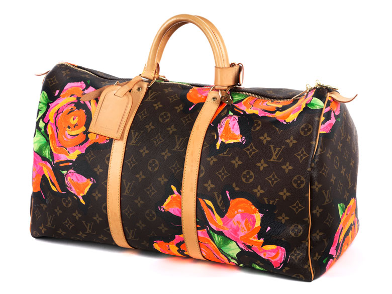 """Louis Vuitton Reisetasche """"Keepall Roses"""" 55 cm by Stephen Sprouse"""