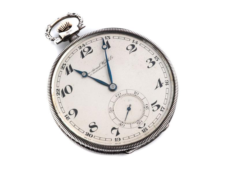 IWC Taschenuhr in Silber