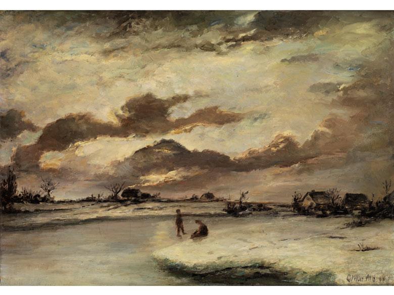 Ludwig Munthe, 1841 Aaro (Sundal) - 1896 Düsseldorf, norwegischer Landschaftsmaler