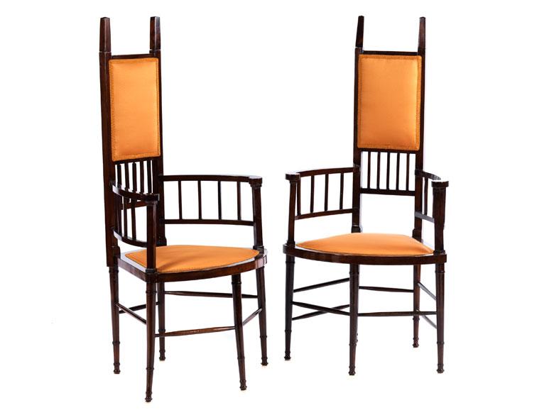 Paar Aussergewohnliche Stuhle Hampel Fine Art Auctions