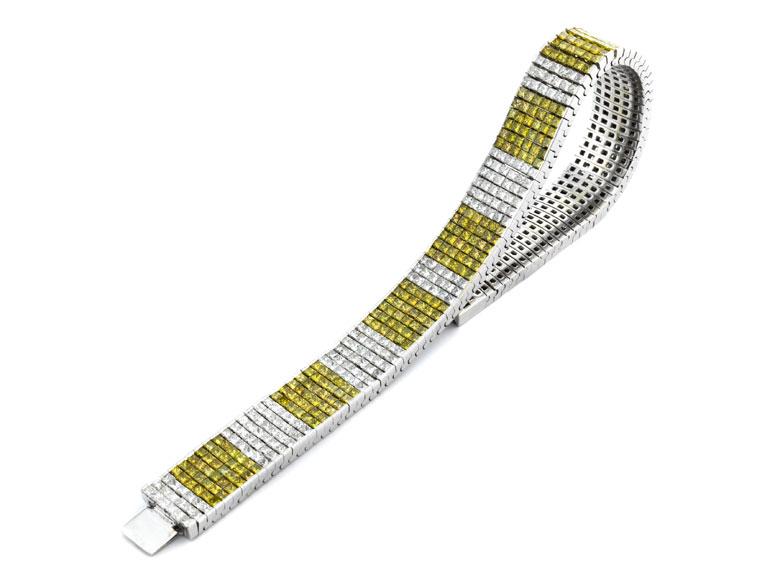 Diamantarmband zweifarbig