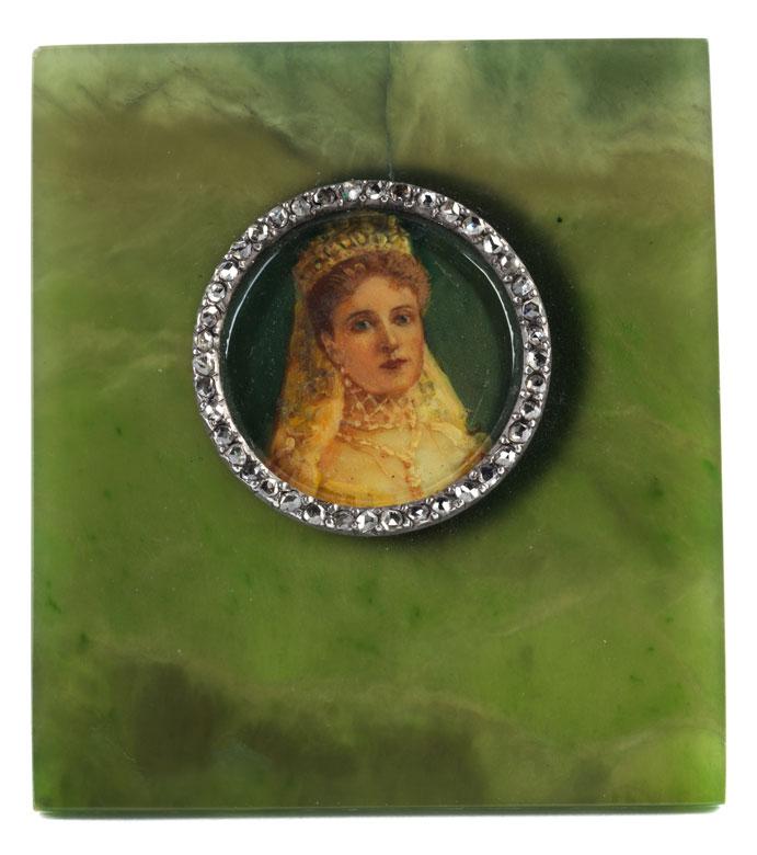 Miniaturportät Der Zarin Alexandra Fjodorowna 1872 Darmstadt 1918