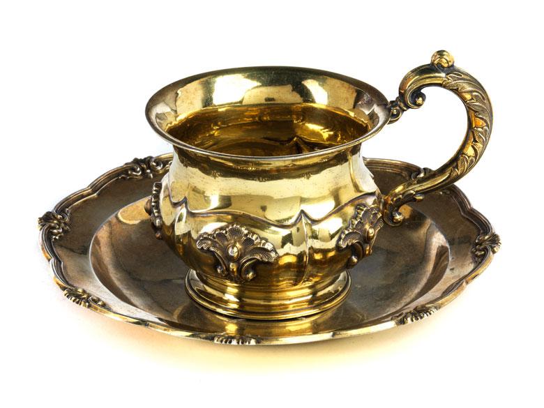St. Petersburger Tasse mit Unterteller