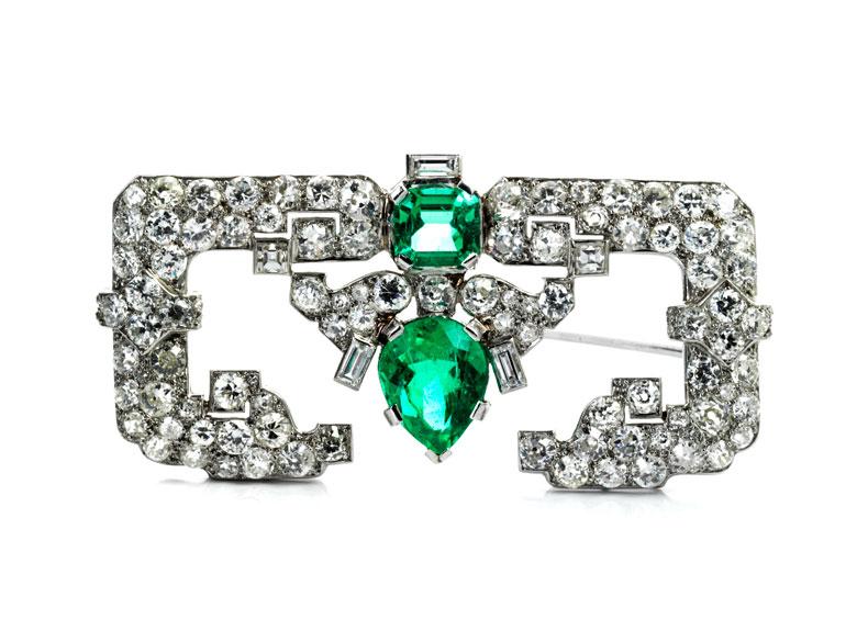 Diamant-Smaragdbrosche von Cartier