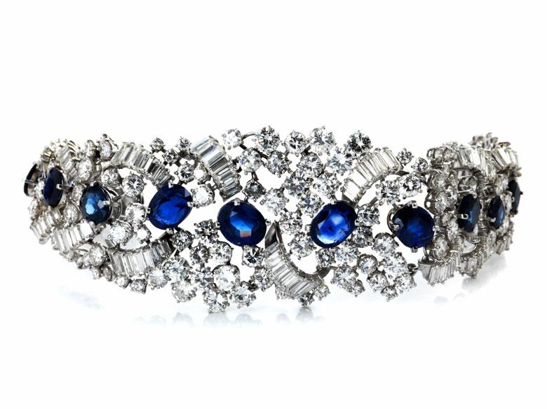 Diamant-Saphirarmband