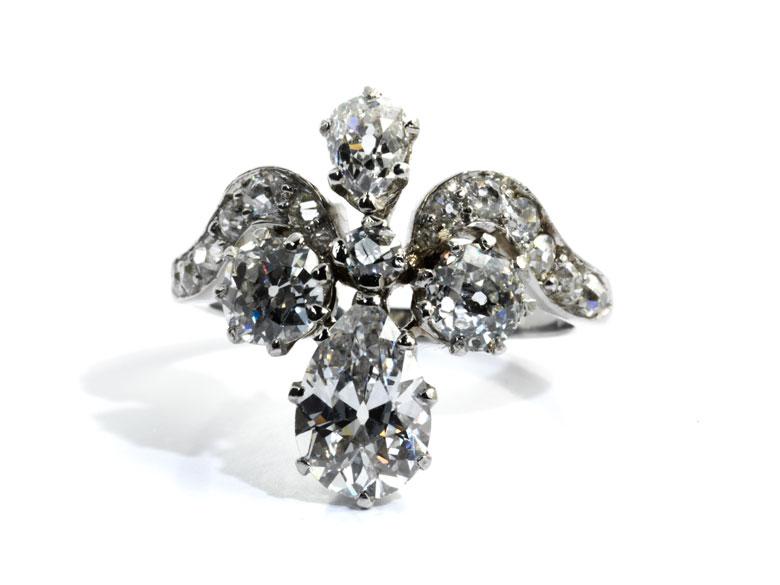Diamant-Tropfenring