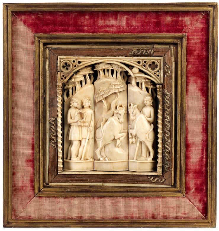 Reliefplatte der Embriachi-Werkstatt