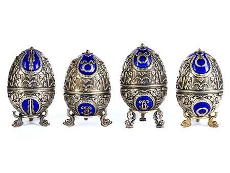 Vier russische Silbereier
