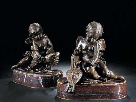 † Paar Bronzefiguren