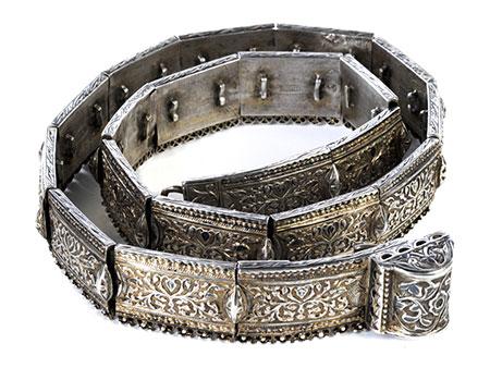 Detail images:  Feiner russischer Silbergürtel