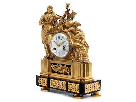 Louis XVI-Kaminuhr mit Venus und Armor