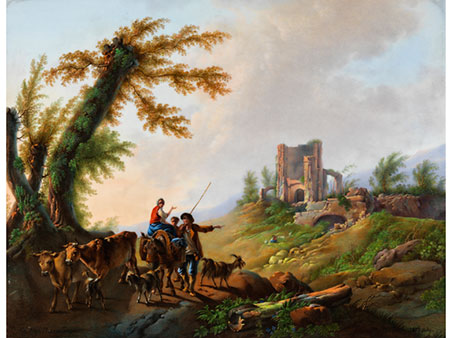 Russische Porzellanplatte aus der Zeit Nikolaus I.