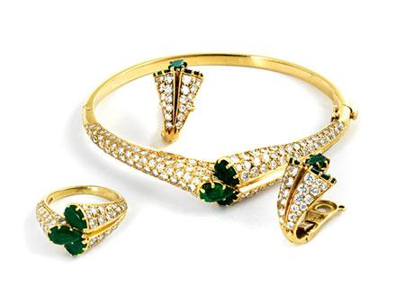 Brillant-Smaragdset von Piaget
