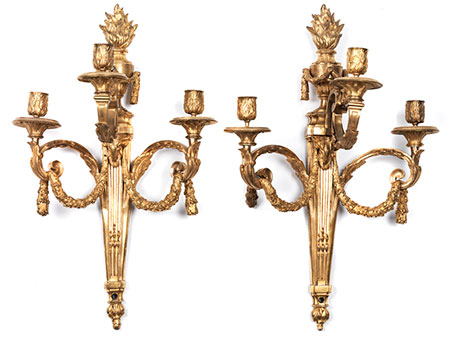 Paar Louis XVI-Wandappliken