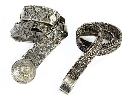 Paar russische Silbergürtel