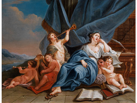Louis Gabriel Blanchet,  1705 Paris - 1772 Rom