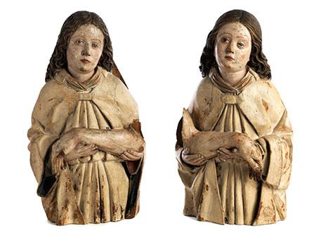 Zwei Engel (Halbfiguren aus einer Beweinung)