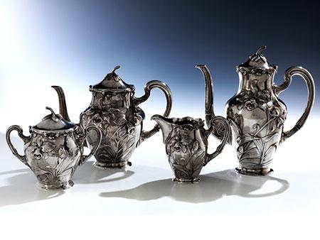 Silbernes Breslauer Kaffee- und Teeservice