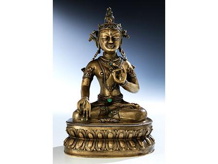 Feine feuervergoldete Bronze der Sita Tara (weiße Tara)