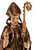 Detail images:  Schnitzfigur des Heiligen Nikolaus von Myra