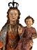 Detail images:  Schnitzfigur einer Maria mit segnendem Jesuskind