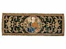 Detail images:  Zwei Goldstickereibilder mit Darstellungen der Evangelisten Johannes und eines nicht näher zu bestimmenden Kirchenlehrers