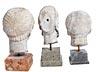 Detail images: Konvolut von sieben Marmorköpfen