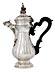Detail images: Große silberne Mailänder Kaffeekanne