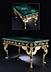 Detail images: † Außergewöhnlicher Malachittisch im Empire-Stil