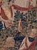 Detail images:  Außergewöhnlich seltener früher flämischer Bildteppich mit höfischer Jagddarstellung