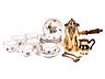 Detail images: Komplettes Schokoladenservice in Silber und Porzellan