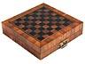 Detail images:  Große furnierte Schach- und Mühlespielkassette