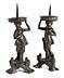 Detail images: Paar figürliche Bronzeleuchter