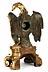 Detailabbildung:  Dekorative Tischuhr in Form eines Adlers