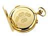Detailabbildung: Savonnette-Taschenuhr in Gold mit Repetition und Stoppfunktion