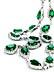 Detailabbildung:  Smaragd-Brillantcollier